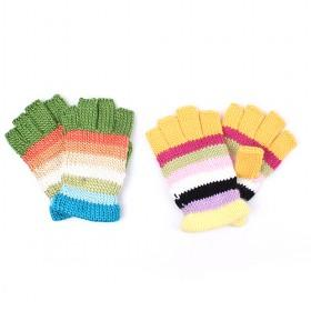 Wool Knitted Hail Fingers Gloves With Soft Lining