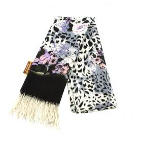 Leopard And Floral Scarf
