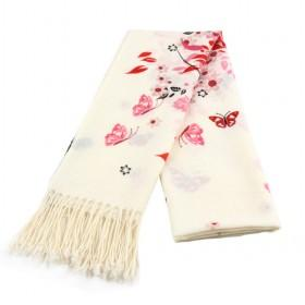 Flower And Tree Figures Scarf