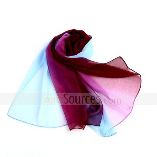 2 colors yarn scarf(blue+purple)