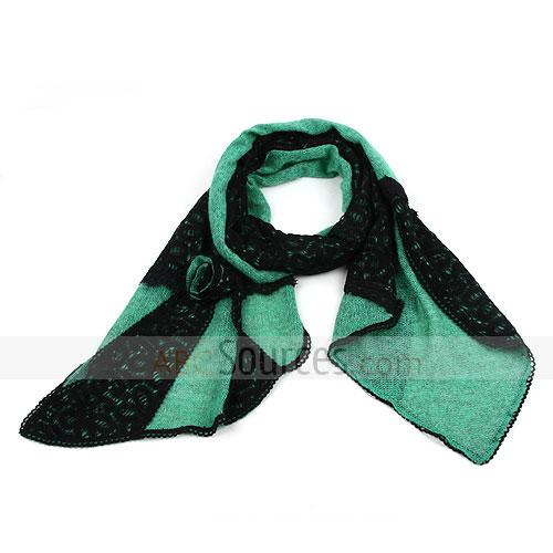 black and green plaid scarf