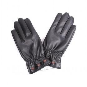 PU Gloves With Double Buckles