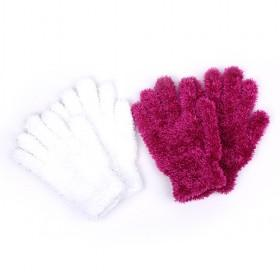 Fashion Feather Yarn Gloves
