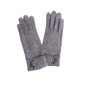 Cashmere Gloves With Buckles