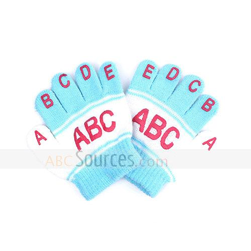 fashion english letters gloves