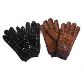 Plaid Gloves With Strings