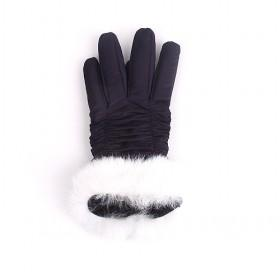 Space Cotton Gloves With Rabbit Hair