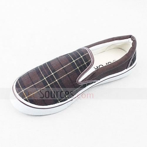 rubber-soled canvas shoes