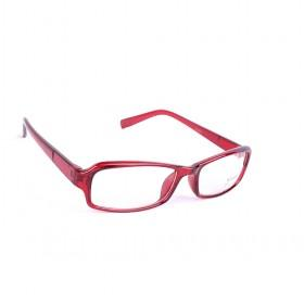 Red Large Lens Eye-protection Stylish Multi-color Unisex Plain Glasses Set