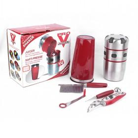 Red And Silver Stainless Steel Juice Extractor/ Juice Machine/ Multi-functional Juicer