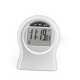 Silver Plated Foldable Round LED Multifuctional Digital Tableset Clock