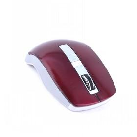 Good Quality Dark Red And Silver Wireless Computer Mouse