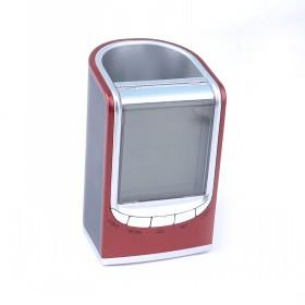 Modern Design Red And Silver Electric Digital LED Multifunctional Alarm Clock
