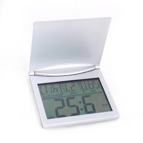 Silver Plated Foldable Rectangular LED Multifuctional Digital Tableset Clock