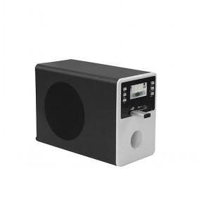Large Size Black And Silver Simple Design Multimedia Audio Computer Speaker