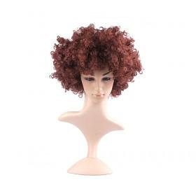 High Quality Exquisite Short Brown Curly Women Costume Hair Wigs