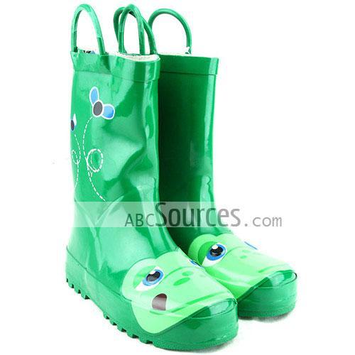wholesale Kids Rain Boots Green Frog-LC101311170