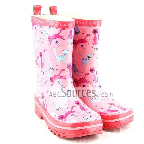 wholesale Kids Rain Boots Cute Cat-LC101311206