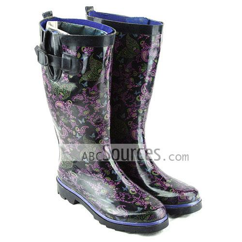 wholesale Womens Rain Boots Vintage Buckle-LC101311222