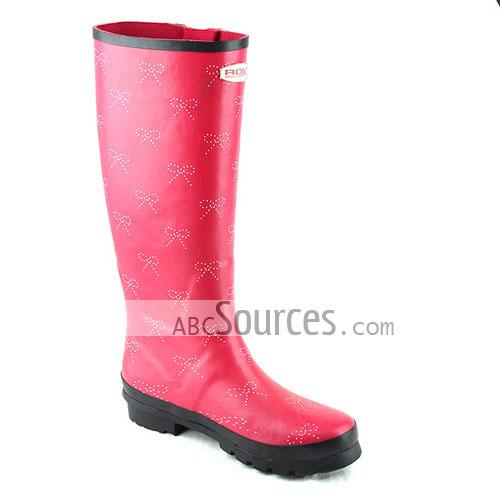 wholesale Womens Rain Boots Plum Bow-LC101311225