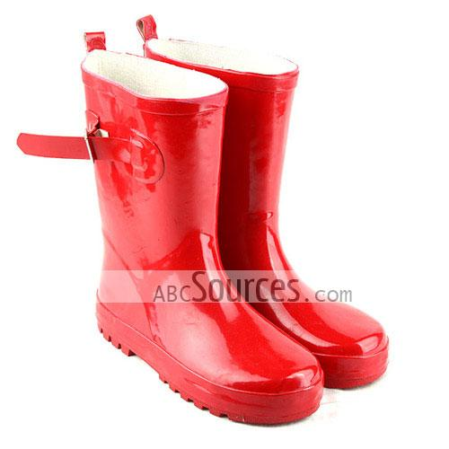 wholesale Womens Rain Boots Red Buckle-LC101311228