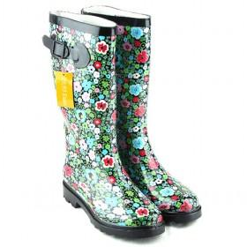 wholesale Womens Rain Boots Floral Buckle-LC101311221