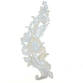 Machine Embroidery Appliques Silver