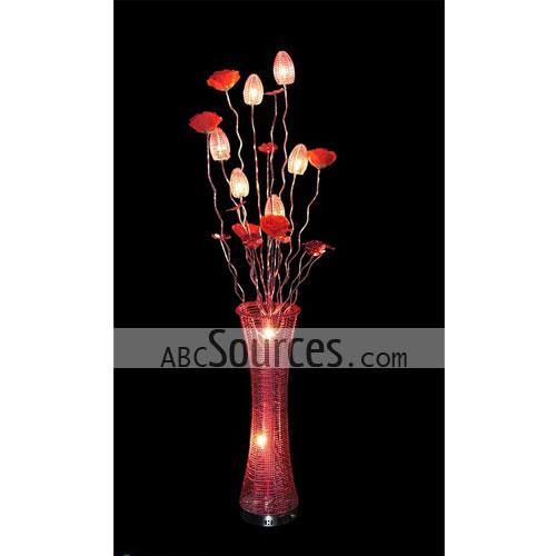 Wholesale red table lamps decorative lamps floor lamps lc110411029 nthis wholesale red table lamps is in vase design it is made of aluminium wire this decorative lamps can also be use das floor lamps since greentooth Images