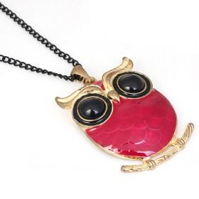 Vintage Pink Owl Pendant Necklaces