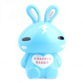New Small Transparent Blue Rabbit Cartoon Money Box,Plastic Coin Bank YIWU