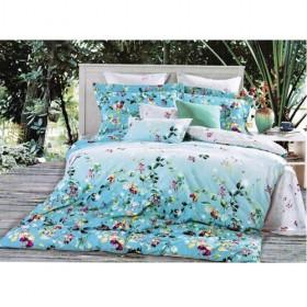 Blue Garden Floral Princess Stylish Printing 100% Cotton Bedding 4-piece Bedding Sets