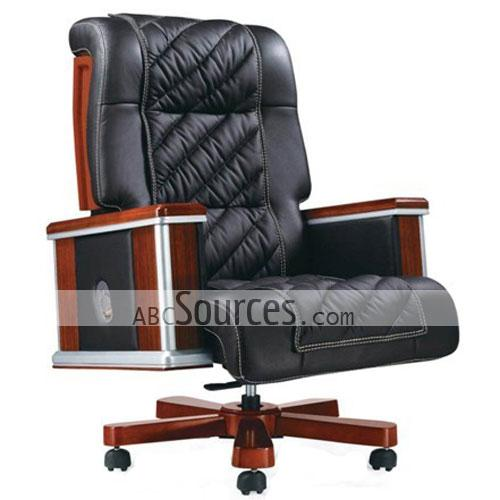Good Quality Plain Black PU/ Leather Computer Chair/ Office Chair/ Boss  Chair With