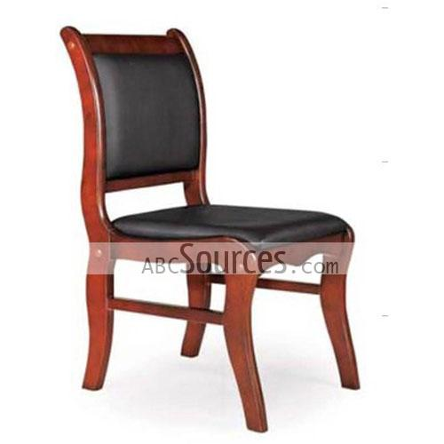 wholesale simple design black leather wooden computer chair office