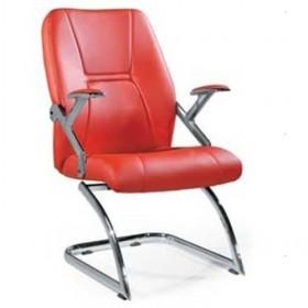 Fashionable Red Leather Stainless Steel Computer Chair/ Office Chair/ Boss Chair