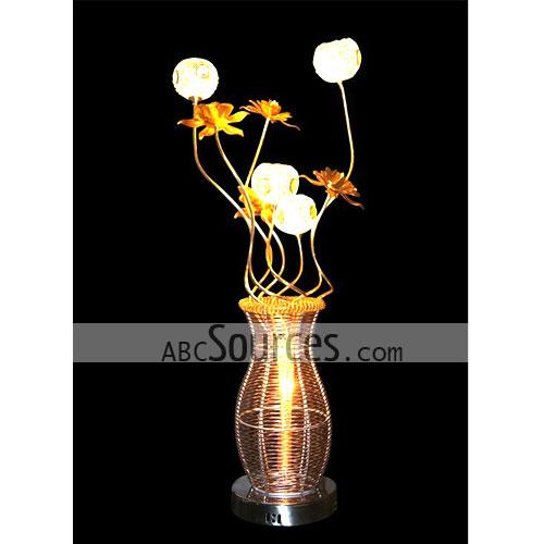 Wholesale golden funky table lamp decorative lamp floor lamp rnthis wholesale golden funky table lamp is in vase design it is made of aluminium wire this decorative lamp can also greentooth Choice Image