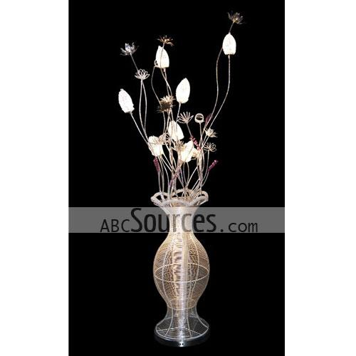 rnthis wholesale fashion flush floor lamp is in vase design it is made of aluminium wire this decorative lamp can also - Decorative Floor Lamps