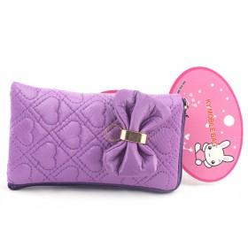 New Purple Tie Pouch/mobile Phone Case/mobile Phone Pouch/mobile Phone Bag/card Case/pu Wallet/purse