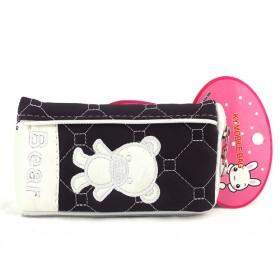New Black;White Bear Pouch/mobile Phone Case/mobile Phone Pouch/mobile Phone Bag/card Case/pu Wallet/purse