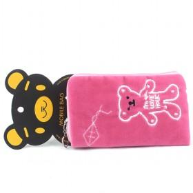 Promotions!! Hot Sale High Fashion Rose Bear Cellphone Case Wallet/mobile Phone Case/cellphone Bag/wallet