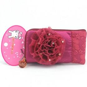 Promotions!! Hot Sale High Fashion Red Flower Cellphone Case Wallet/mobile Phone Case/cellphone Bag/wallet
