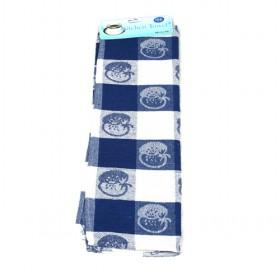 50 70cm Daek Blue Apple Pattern Cotton Towels For Kitchen Cleaning