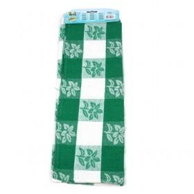 50 70cm Green And White Floral Pattern Cotton Towels Kitchen Towels