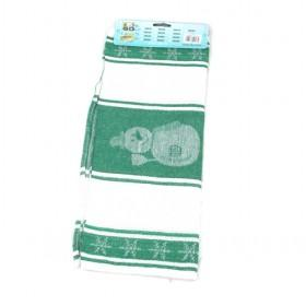 40 70cm Green Snowman Pattern Cotton Towels Kitchen Towel Dish Washing Products