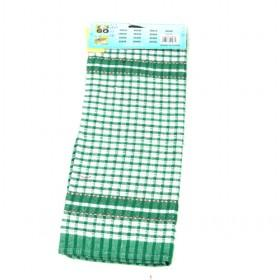 39 And 63cm Green And White Single Piece Cleaning Rag Cotton Towels