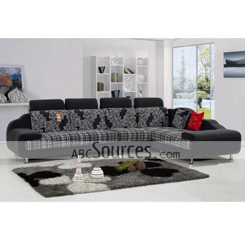 Ordinaire Special Light Grey Floral Design Nice Fabric Sofa Set