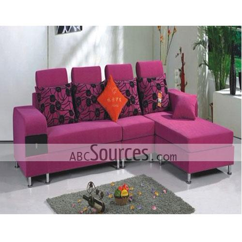 Hot Sale Plum Home Fabric Detachable Sofa Set