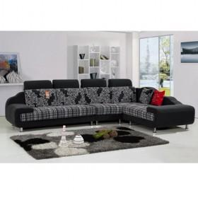 Nice Sofa wholesale special light grey floral design nice fabric sofa set