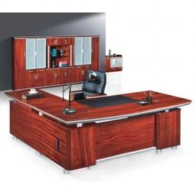 Beau High Quality Big Size Red Wooden Office Boss Desk/ Office Furniture
