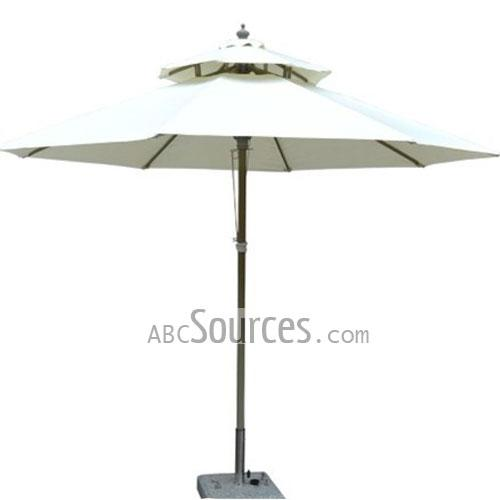 \nThe Wholesale Two Layers White Patio Umbrellas Using The Finest  Materials, ...
