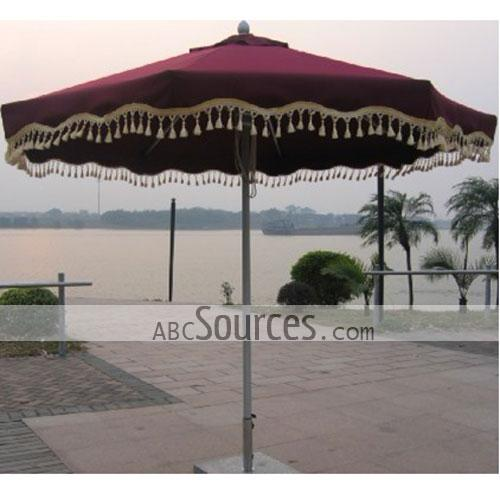 Nice Double Layer Drawstring Aluminum Patio Umbrella